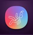 fainting app icon vector image vector image