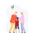 family time grandparents and grandson happy vector image vector image
