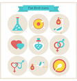 flat birth and fertility icons set vector image