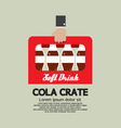 Flat Design Cola Crate In Hand vector image