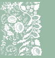 floral lace border vector image vector image