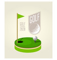 golf tournament poster design template - golf vector image vector image