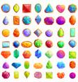 jeweler icons set cartoon style vector image vector image