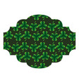 label decoration pattern clover st patrick day vector image vector image