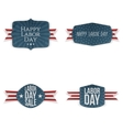 Labor Day festive paper Tags Collection vector image