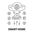 line style design concept smart house network vector image vector image