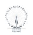 London Eye View vector image