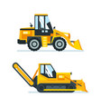 machine for cutting stacking of asphalt vector image vector image