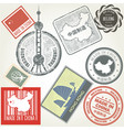 made in china grunge rubber stamps set vector image vector image