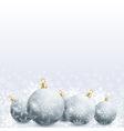 new year and christmas card with christmas ball vector image vector image
