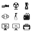 paid services icons set simple style vector image vector image