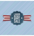 Paper Card with Labor Day Sale Text vector image vector image