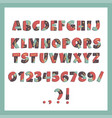 papercut colorful alphabet vector image vector image