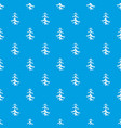pine pattern seamless blue vector image vector image