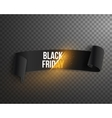 Realistic Black Friday Sale Ribbon Banner Template vector image