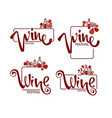 red wine festival young wine logo emblems vector image vector image