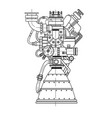 rocket engine design it can be used as an vector image vector image