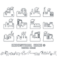 Set of factory icons vector image vector image
