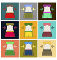 set of icons in flat design woman body diet vector image