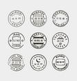 set vintage postage stamps vector image