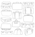 set vintage suitcases - for design in vector image
