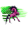 silhouette a running horse design vector image vector image