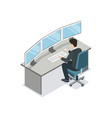 software developer coding isometric 3d icon vector image vector image