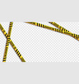 strips quarantine coronavirus tape border set vector image vector image