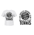 tennis t-shirt print mockup sport club team vector image