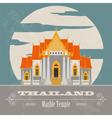 Thailand landmarks Retro styled image vector image vector image