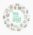 thin line of tea tea vector image