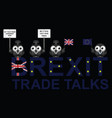 uk trade talks delegation vector image vector image