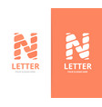unique letter n logo design template vector image