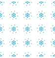 Unique Snow seamless pattern vector image vector image