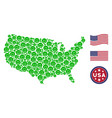 usa map stylization of glad smile vector image