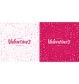 valentines day card design set heart confetti vector image vector image