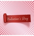 Valentines Day realistic red greeting Ribbon vector image vector image