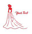 wedding bridal wear fashion boutique gown logo vector image vector image
