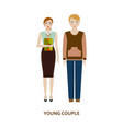 young couple character family without children vector image vector image