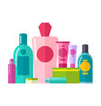 containers and tubes poster vector image