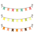 Cute flags clipart for baby shower set vector image