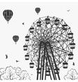 Ferris wheel at an amusement park vector image