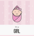 its a girl concept for greeting card vector image