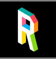 3d colorful letter r logo icon design template vector image vector image