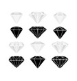 a set diamonds vector image vector image