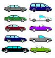 a set of sketches of ten retro cars vector image
