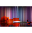 abstract blur music background with violin vector image