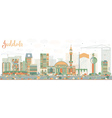 Abstract Jeddah Skyline with Color Buildings vector image vector image