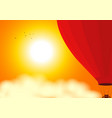 air balloon on the air at sunset vector image vector image