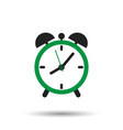 alarm clock icon flat design style simple icon vector image vector image
